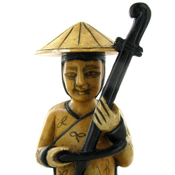 Handcarved Marble Chinese Musician - 3