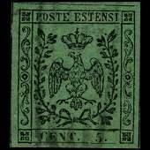 1852 Modena 5c Stamp
