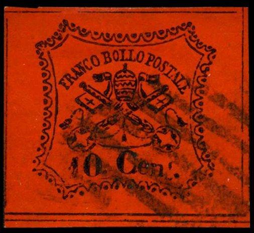 1867 Papal States 10b Stamp