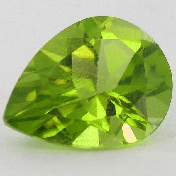 2.34ct Green Peridot Pear Cut