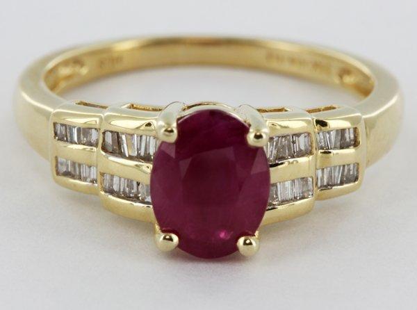 18.9twc NEW 14k Gold Burma Ruby & Diamond Ring