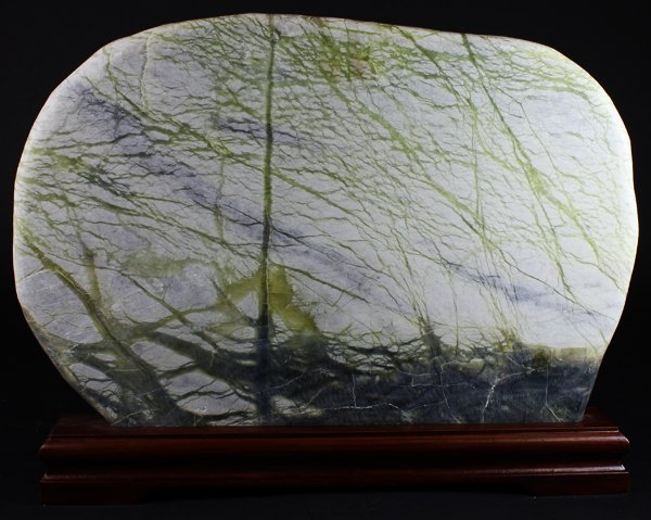 """12"""" Natural Picture Agate Slab on Stand"""