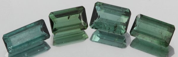 3.5ct Teal Blue Tourmaline Emerald Cut Parcel