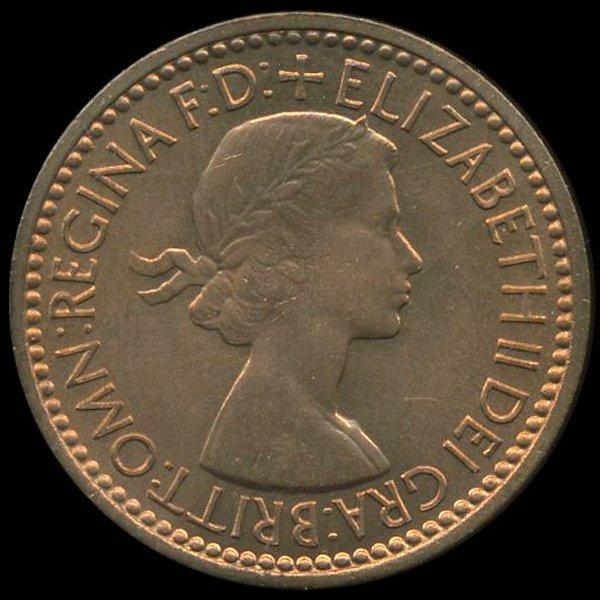 1953 Britian 1/4p MS66