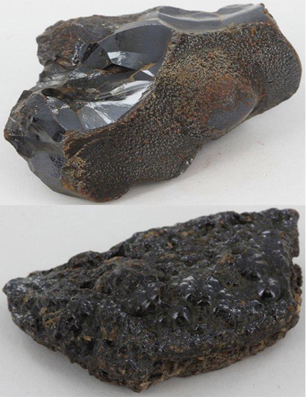 128gm Unique Volcanic Obsidian Mineral Specimen Parcel