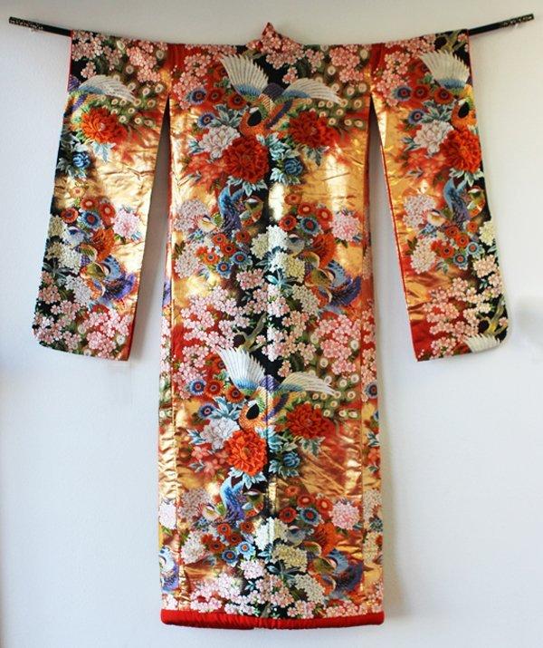 Japan Vintage New Heavy Silk Wedding Kimono