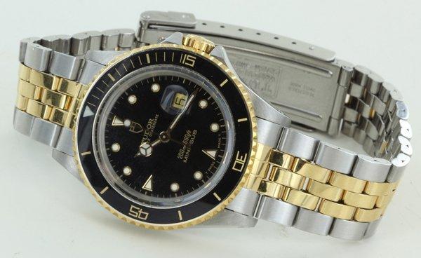 Rolex Tudor Prince Oysterdate Mini-sub 14k Bezel & Stem