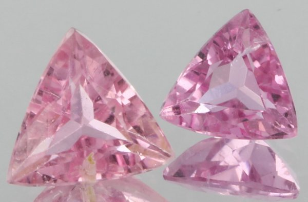 1ct Pink Tourmaline Triangle Cut Parcel
