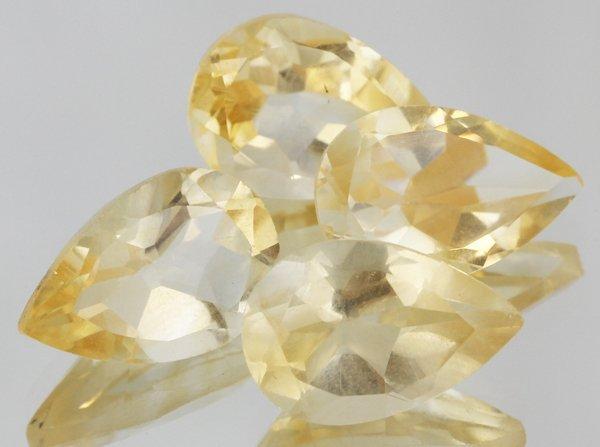 10.5ct Yellow Citrine Parcel Pear Shape