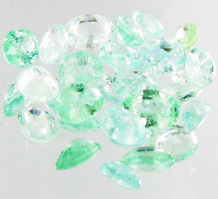 1.07ct Neon Blue Green Cuprian Tourmaline Parcel