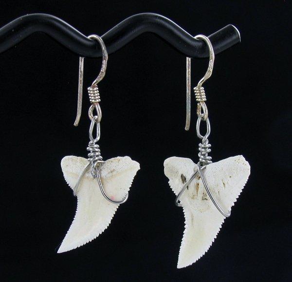 Sterling Shark Ivory Earrings