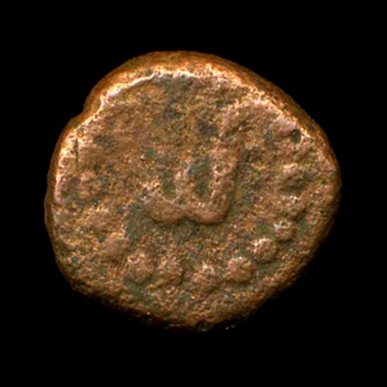 Ancient India Tanjore Nayak Copper Coin VF+ Ty 1