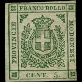 1859 Modena 5c Stamp