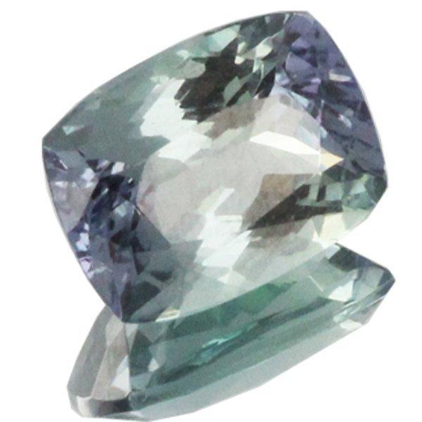 1.61ct Top Grade Blue Green Tanzanite Cushion