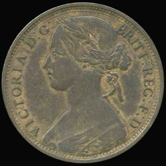 1863 Great Britain Penny VF/XF