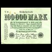 1923 Germany 100000 Mark HiGrade Note