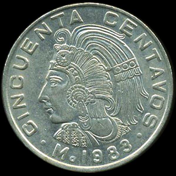 1980 Mexico 50c AU+ ERROR