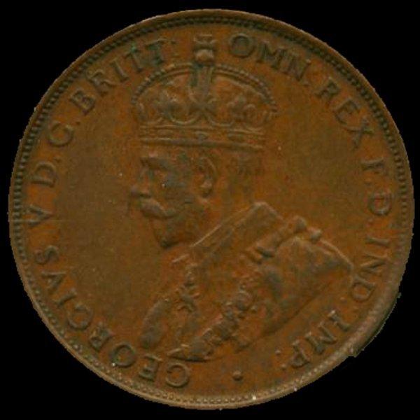 1935M Australia Large Penny Hi Grade MS63 BV $300