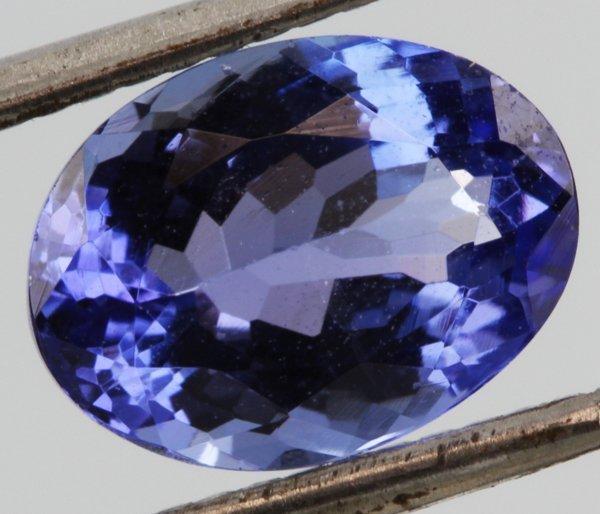 2.44ct Dark Purple Blue Tanzanite Oval Cut