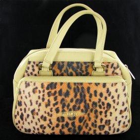 Leopard Pattern Stingray Skin Handbag