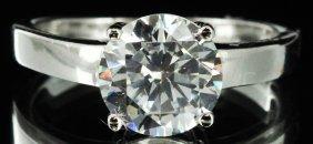 13.4twc Diamond Simulant White Gold Vermeil Ring