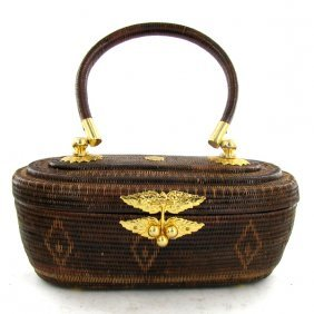 Finely Hand-woven Lipao Gold Plate Handbag