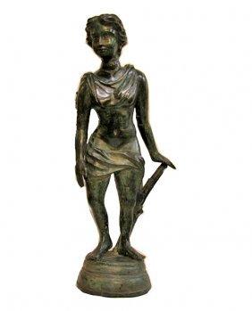 Antique Late 1800s Bronze Athena Statye