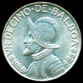 1962 Panama Silver 1/10 Balboa Bu