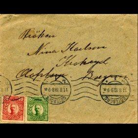 1910 Sweden 5o & 10o #70/71 Cover Scarce