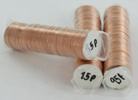 1995 Linc 1c Bu Scarce Unopened Bank 3 Rolls Of 50