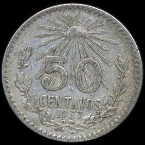 1937 Mexico 50c Xf