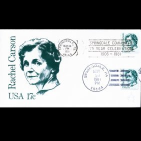 1981 Us First Day Postal Cover Dual Postmark Error