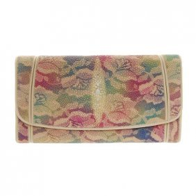 Ladies Stingray Hide Clutch Purse/wallet
