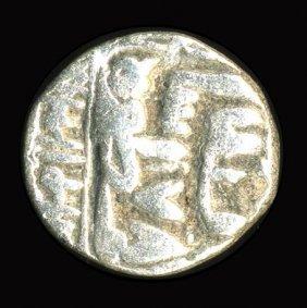 1500s India Medeival Mughul Silver 1/2 Rupee Vf+