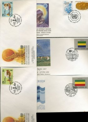 1986 Us & Un First Day Cover Collection
