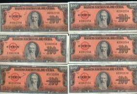 1959 Cuba 100 Peso Hi Grade Note 10pcs