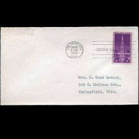 1938 Us First Day Postal Cover