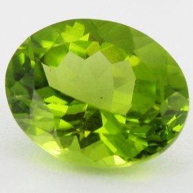 2.85ct Green Peridot Oval Cut