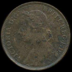 1895 Britain Victoria Farthing High Grade Date