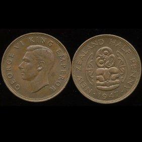 1946 New Zealand 1/2p Unc