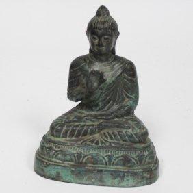 Vintage Bronze Thai Buddha Statue