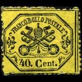 1868 Papal States 40c Stamp MINT NG