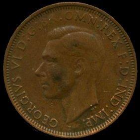 1941m Australia Large Penny Hi Grade Au+ Bv $25