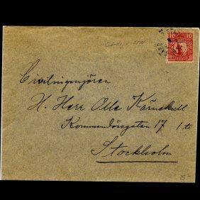1910 Sweden 10o #71 Cover Scarce