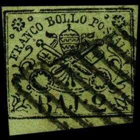 1852 Papal States 1/2b Stamp