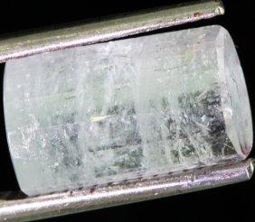 6.05ct Pale Pink/green Tourmaline Crystal Cut