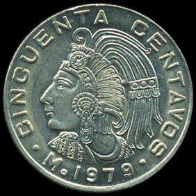 1979 Mexico 50c Ms65+ Error