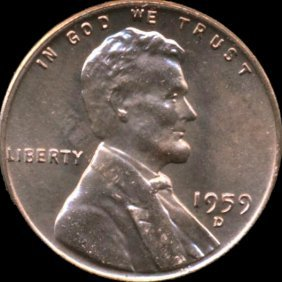 1959d Lincoln Cent Ms66 Lamination Error
