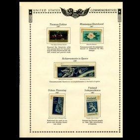 1967 Us Stamp Album Page 6pcs