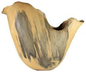 Rosewood Burl Handcarved Wood Vase